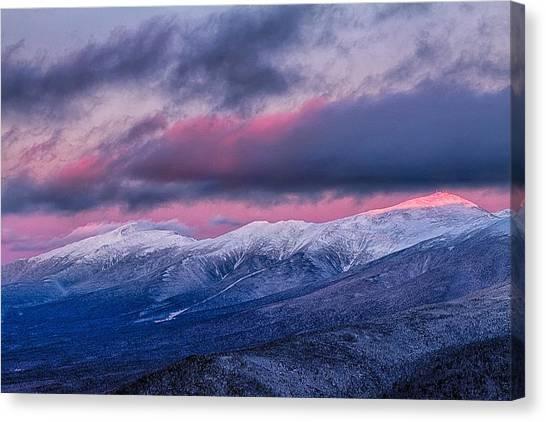 Mount Washington Summit In The Alpenglow Canvas Print