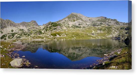 Mountain And Lake Canvas Print by Ioan Panaite
