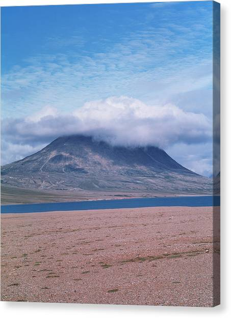 Mountain Cloud Canvas Print by Simon Fraser/science Photo Library