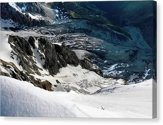 Ice Climbing Canvas Print - Mountain Landscape by Martin Rietze