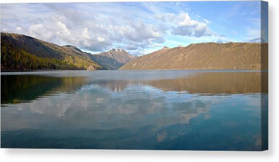 Mount St. Helens Canvas Print - Mountain Ranges And Lake Panorama by Panoramic Images