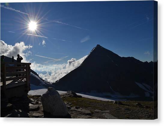 Pasterze Glacier Canvas Print - Mountains Austrian Alps-glacier Glacier by Zdenka Otipkova