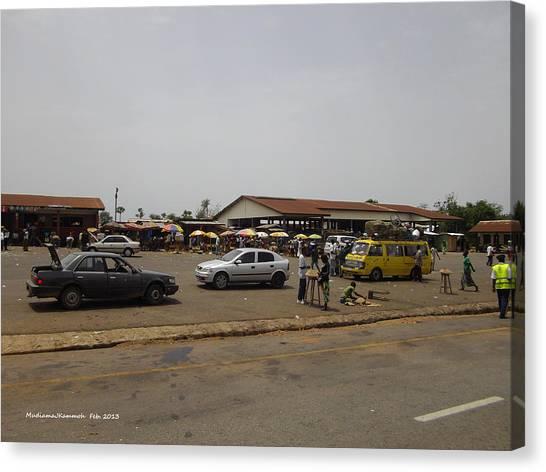 Moyamba Junction-markets Canvas Print