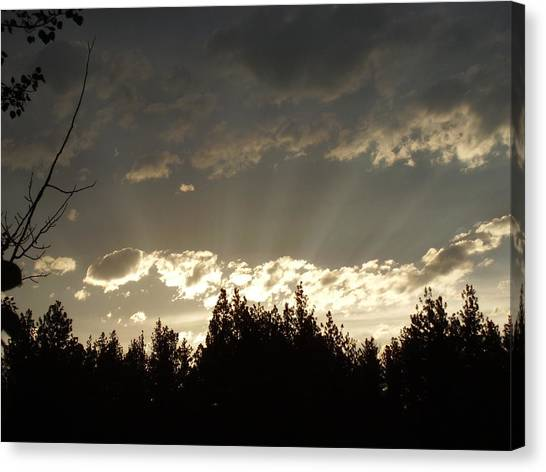 Mt Sunset Canvas Print by Yvette Pichette