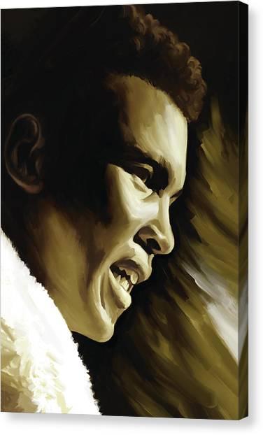 Muhammad Ali Canvas Print - Muhammad Ali Boxing Artwork by Sheraz A