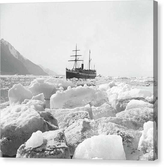 Glacier Bay Canvas Print - Muir Glacier by Edward Burton Mcdowell, Nsidc, Wdc/science Photo Library