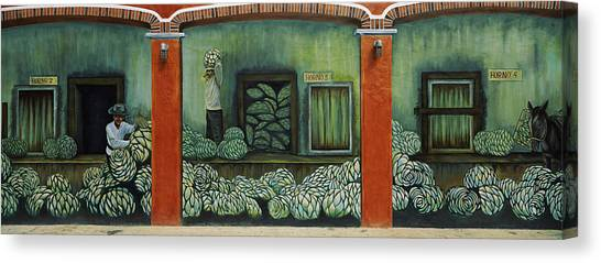 Artichoke Canvas Print - Mural On A Wall, Cancun, Yucatan, Mexico by Panoramic Images
