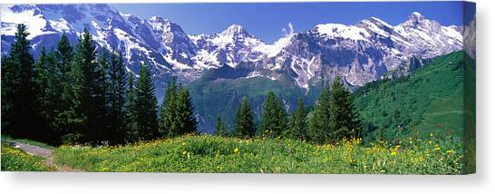Mountainscape Canvas Print - Murren Switzerland by Panoramic Images