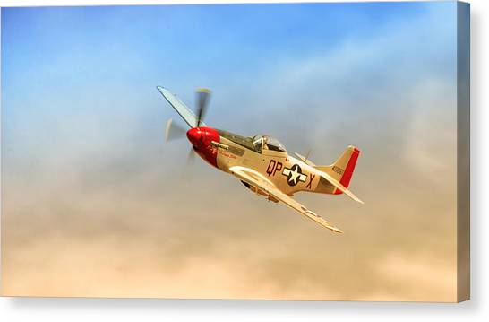 Mustang P51 Canvas Print by Johan Combrink