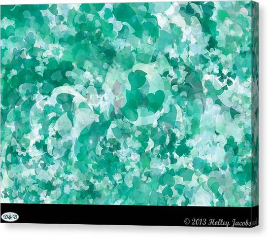 My Love Teal Canvas Print by Holley Jacobs