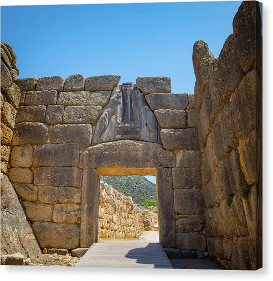 The Acropolis Canvas Print - Mycenae, Argolis, Peloponnese, Greece by Panoramic Images