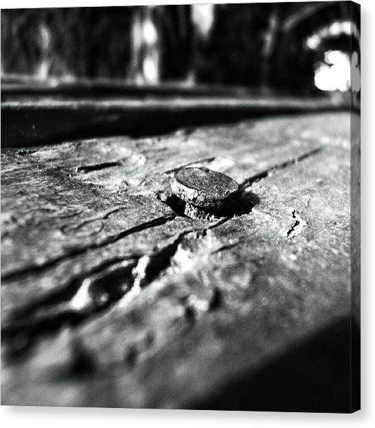 Hammers Canvas Print - #nail #wood #old #crack #texture by Joe Giampaoli