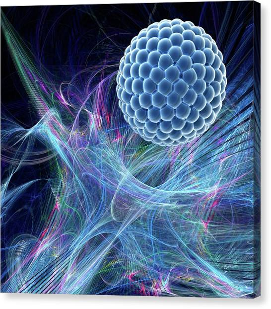 Nanoparticle Canvas Print by Laguna Design/science Photo Library