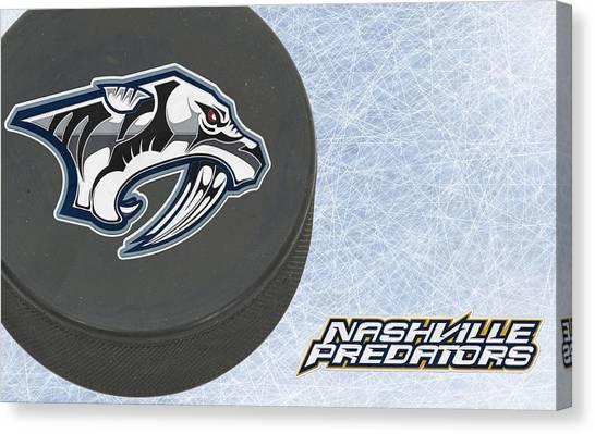 Nashville Predators Canvas Print - Nashville Predators by Joe Hamilton