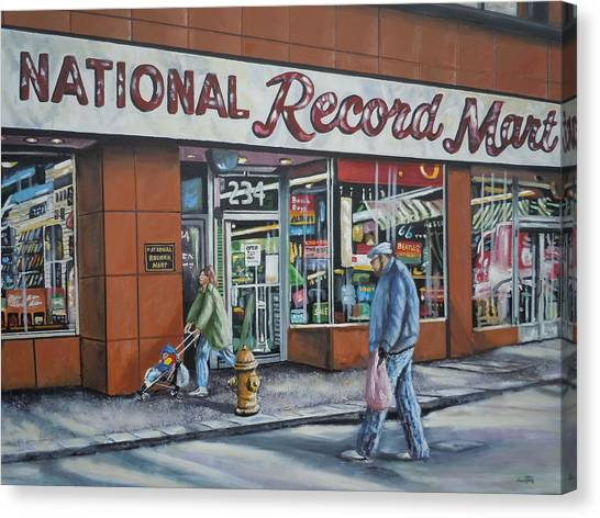 National Record Mart Canvas Print by James Guentner
