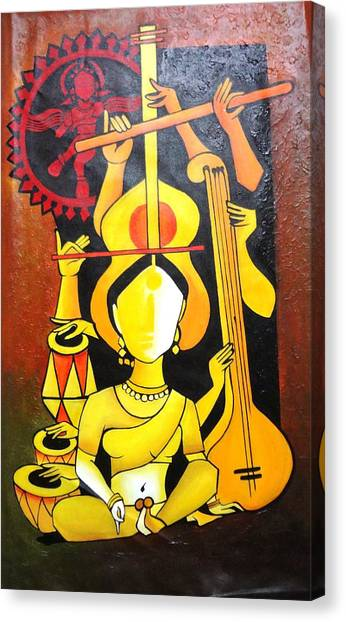 Music Canvas Print - Natraj - Lord Of Dance by Sheetal Bhonsle