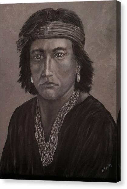 Navajo Boy Native American Canvas Print