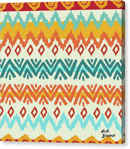 Southwest Canvas Print - Navajo Mission Round by Nicholas Biscardi
