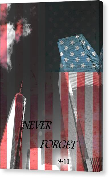 Nyfd Canvas Print - Never Forget by Dan Sproul