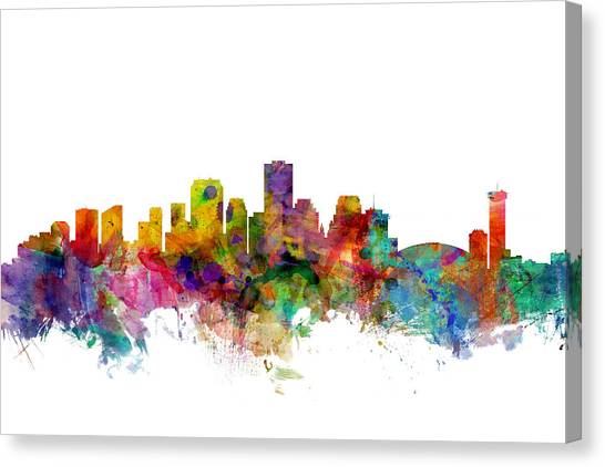 Louisiana Canvas Print - New Orleans Louisiana Skyline by Michael Tompsett