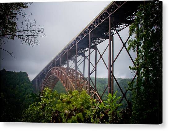 New River Bridge Canvas Print