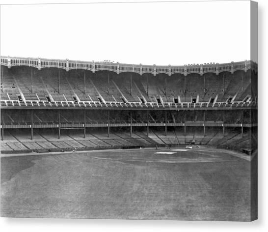 Yankee Stadium Canvas Print - New Yankee Stadium by Underwood Archives