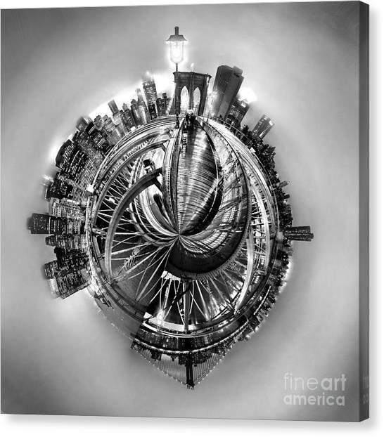 Brooklyn Bridge Canvas Print - Manhattan World by Az Jackson