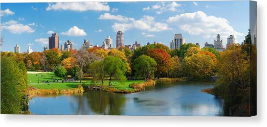 New York City Manhattan Central Park Panorama Canvas Print