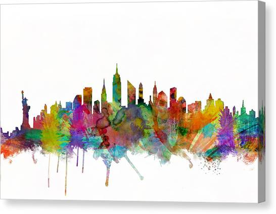 Central Park Canvas Print - New York City Skyline by Michael Tompsett