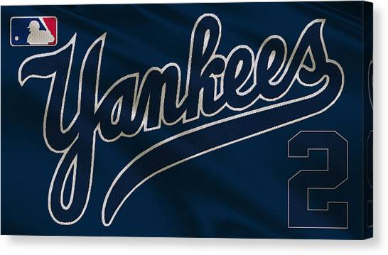 Derek Jeter Canvas Print - New York Yankees Derek Jeter by Joe Hamilton