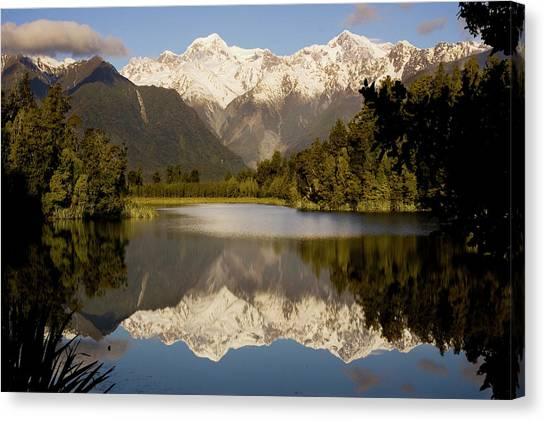 Fox Glacier Canvas Print - New Zealand by Carl D. Walsh