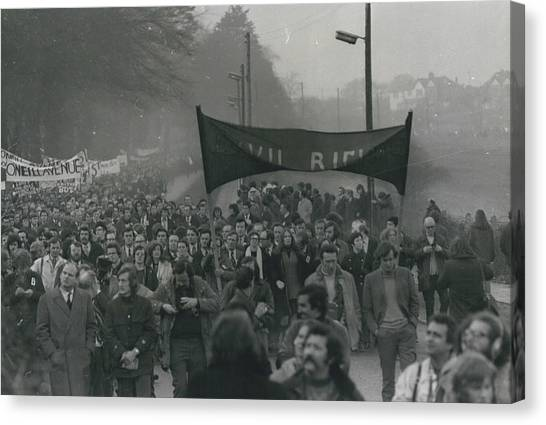 Newry March Passes Off Peacefully Canvas Print by Retro Images Archive