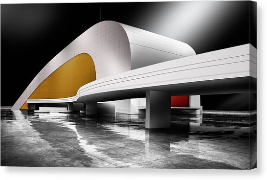 Modern Architecture Canvas Print - Niemeyer Center (avila?s, Spain) by Artistname