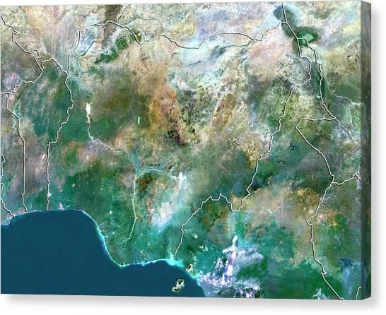 Nigeria Canvas Print - Nigeria by Planetobserver/science Photo Library