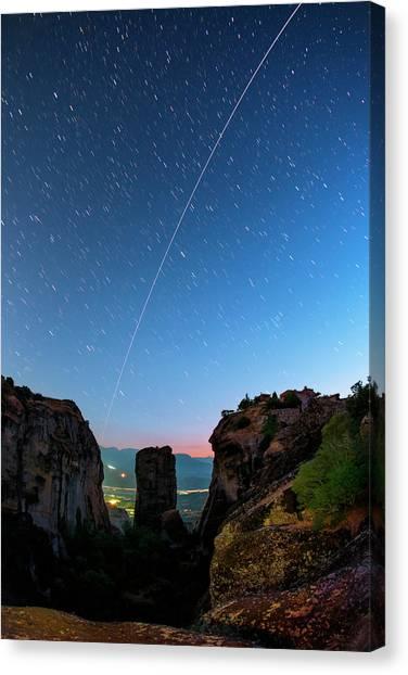 Night Sky Over Meteora Canvas Print by Babak Tafreshi