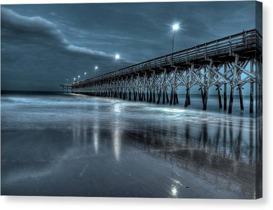 Nighttime At The Pier Canvas Print