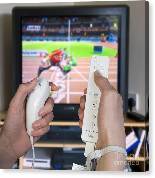 Wii Canvas Print - Nintendo Wii by Paul Rapson