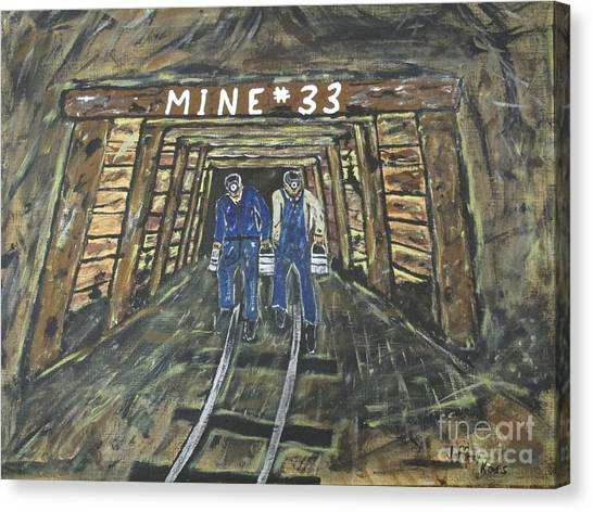 Canvas Print - No Windows Down There In The Coal Mine .  by Jeffrey Koss