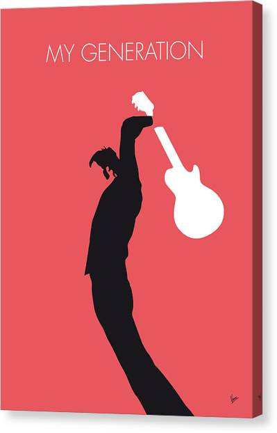 Music Inspired Art Canvas Print - No002 My The Who Minimal Music Poster by Chungkong Art