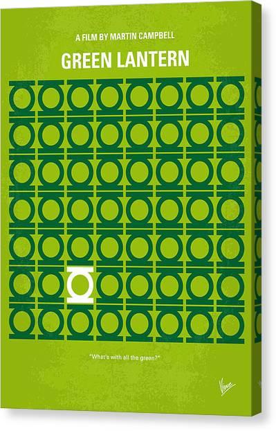 Green Canvas Print - No120 My Green Lantern Minimal Movie Poster by Chungkong Art