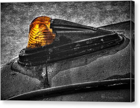 Nobody's Truck Running Light Canvas Print