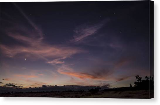 Mauna Loa Canvas Print - Noctilucent Cloud by Sean King