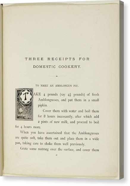 Storks Canvas Print - Nonsense Botany And Nonsense Alphabets by British Library