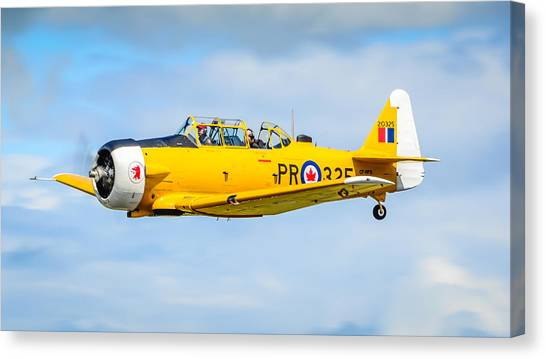 Wii Canvas Print - North American Texan Snj-5  by Puget  Exposure