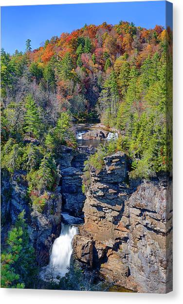Blue Ridge Parkway Waterfalls Canvas Print - North Carolina, Blue Ridge Parkway by Jamie and Judy Wild