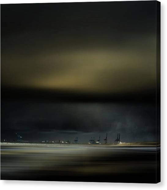 Cranes Canvas Print - Northern Wind by Piet Flour