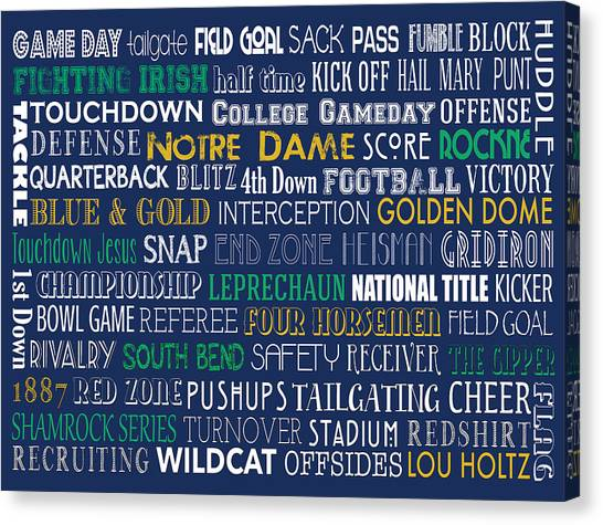 Notre Dame Football Canvas Print