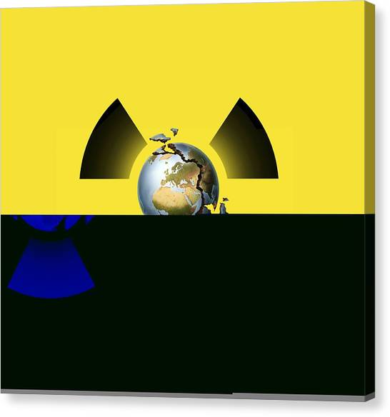 Half Life Canvas Print - Nuclear Disaster, Conceptual Artwork by Science Photo Library