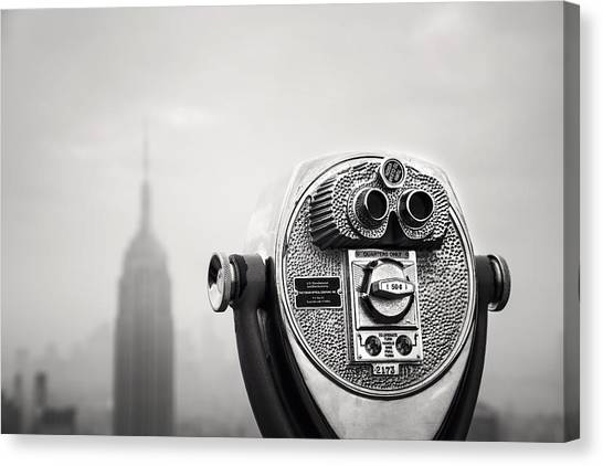 Monument Canvas Print - Nyc Viewpoint by Nina Papiorek