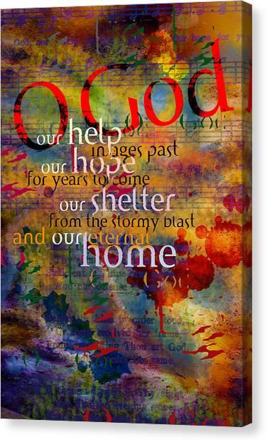 O God Our Help Canvas Print